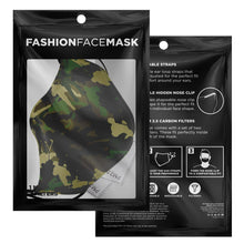 Load image into Gallery viewer, Green Camo Face Mask