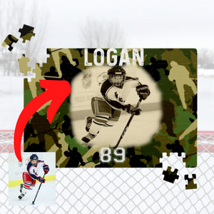 Personalized Hockey Puzzle - Camo Style