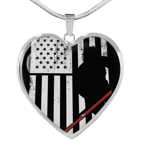 USA Heart Necklace