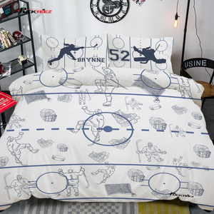 Personalized Hockey Bedding Set - Girls
