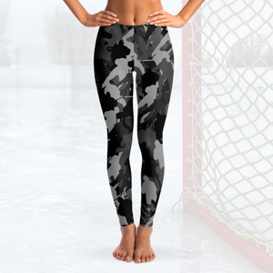 Hockey Camo Leggings - Black
