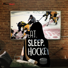 Load image into Gallery viewer, Eat Sleep Hockey Hooded Blanket