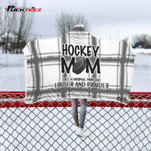 Load image into Gallery viewer, Hockey Mom Checkered Hooded Blanket