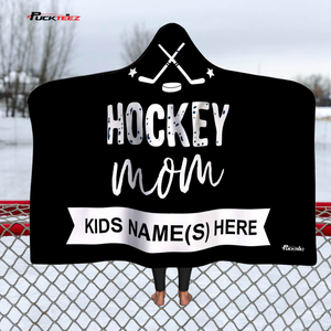 Personalized Hockey Mom Hooded Blanket