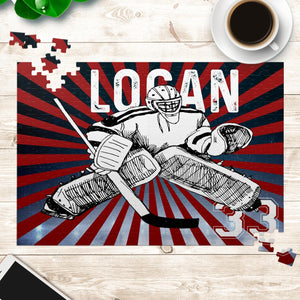 Personalized Hockey Puzzle - Hockey Goalie/Player