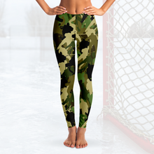 Load image into Gallery viewer, Hockey Camo Leggings - Green