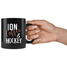 Load image into Gallery viewer, Running On Coffee And Hockey Mug