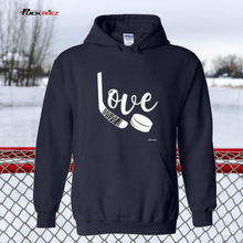 Load image into Gallery viewer, Love Hockey Hoodie