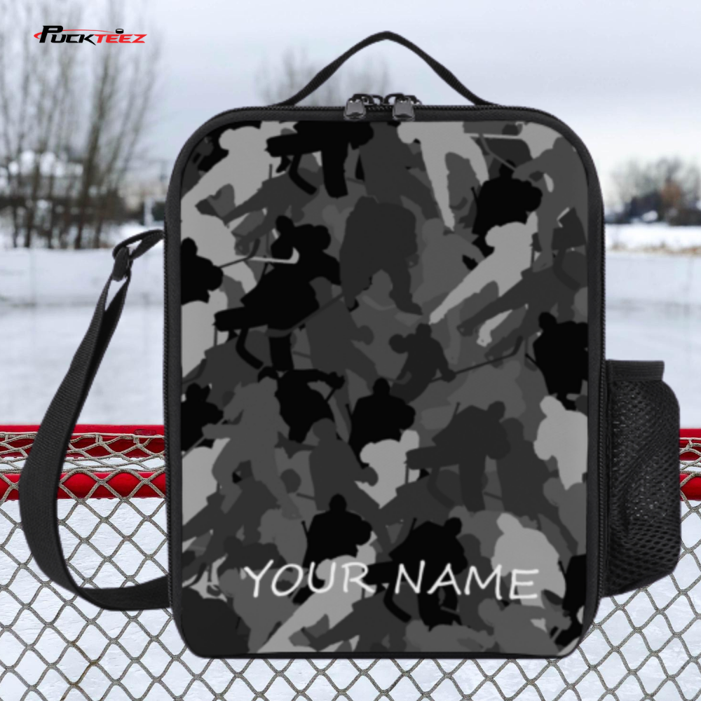 Personalized Hockey Camo Lunch Bag