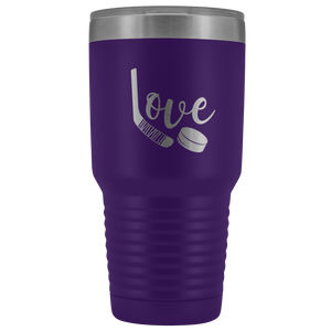 Love Hockey Tumbler