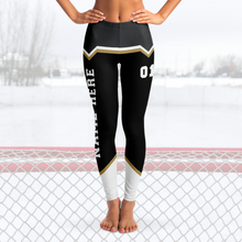 Load image into Gallery viewer, Black/Gold/Silver Team Leggings
