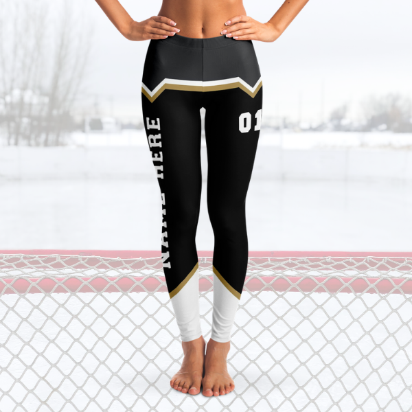 Black/Gold/Silver Team Leggings