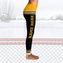 Load image into Gallery viewer, Boston Hockey Leggings