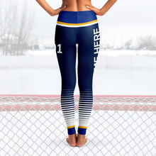 Load image into Gallery viewer, Blue/Yellow/White Team Leggings