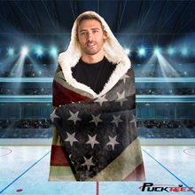 Load image into Gallery viewer, USA Stronger Together Hooded Blanket