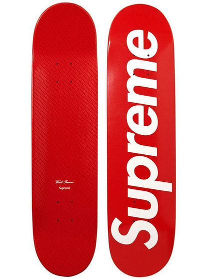 Supreme Logo Skateboard- Red