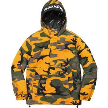 Supreme Hooded Logo Brooklyn Camo Pullover Jacket
