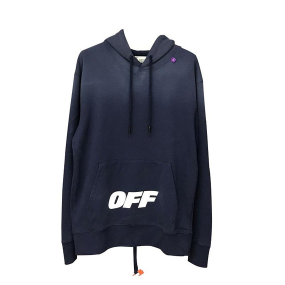 Off White Blue Wing Off Logo Hoodie