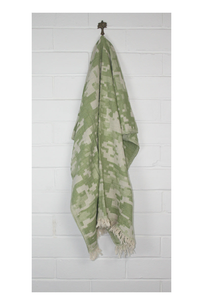 Camo Turkish Towel Throw - Khaki - Sumavi
