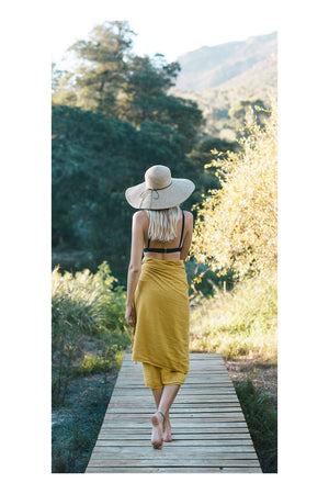 Desert Stonewash Turkish Towel/Throw - Turmeric - Sumavi