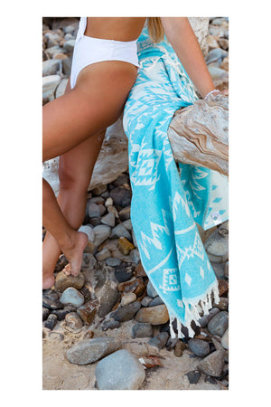 Hinterland Turkish Towel - Turquoise - Sumavi