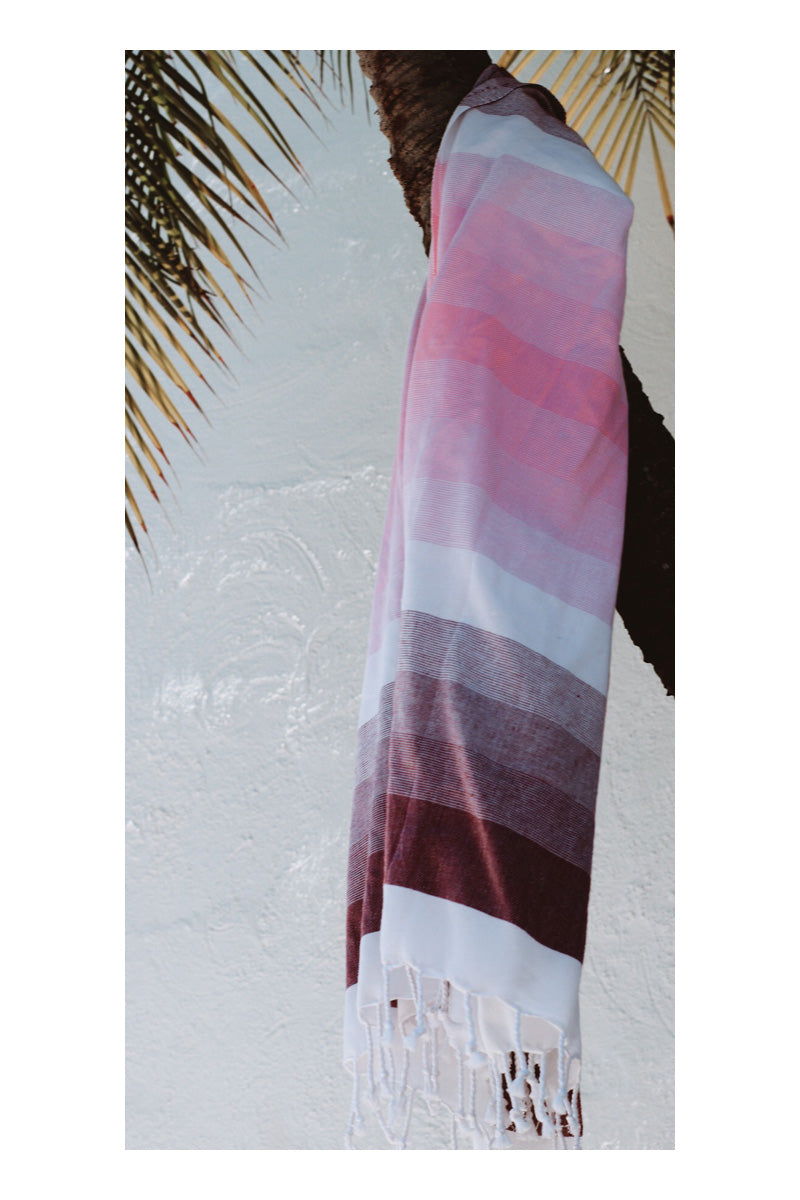 Noosa Turkish Towel - Ruby - Sumavi