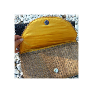 Cali Woven Palm Clutch - Tan ON SALE! - Sumavi