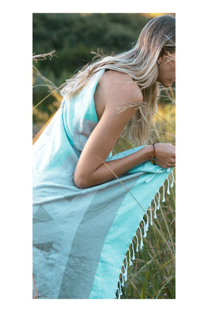 Peak Turkish Towel - Mint - Sumavi