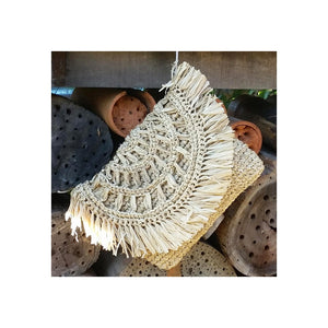 Rising Sun Raffia Clutch - ON SALE - Sumavi