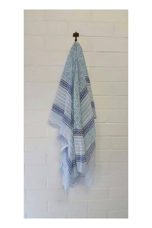 Santorini Whitewash Indian Cotton Sarong
