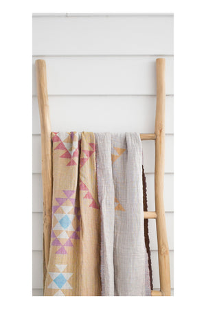 Teepee Turkish Towel / Throw  - Sand - Sumavi