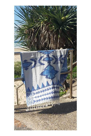 Warrior Turkish Towel - Ocean - Sumavi