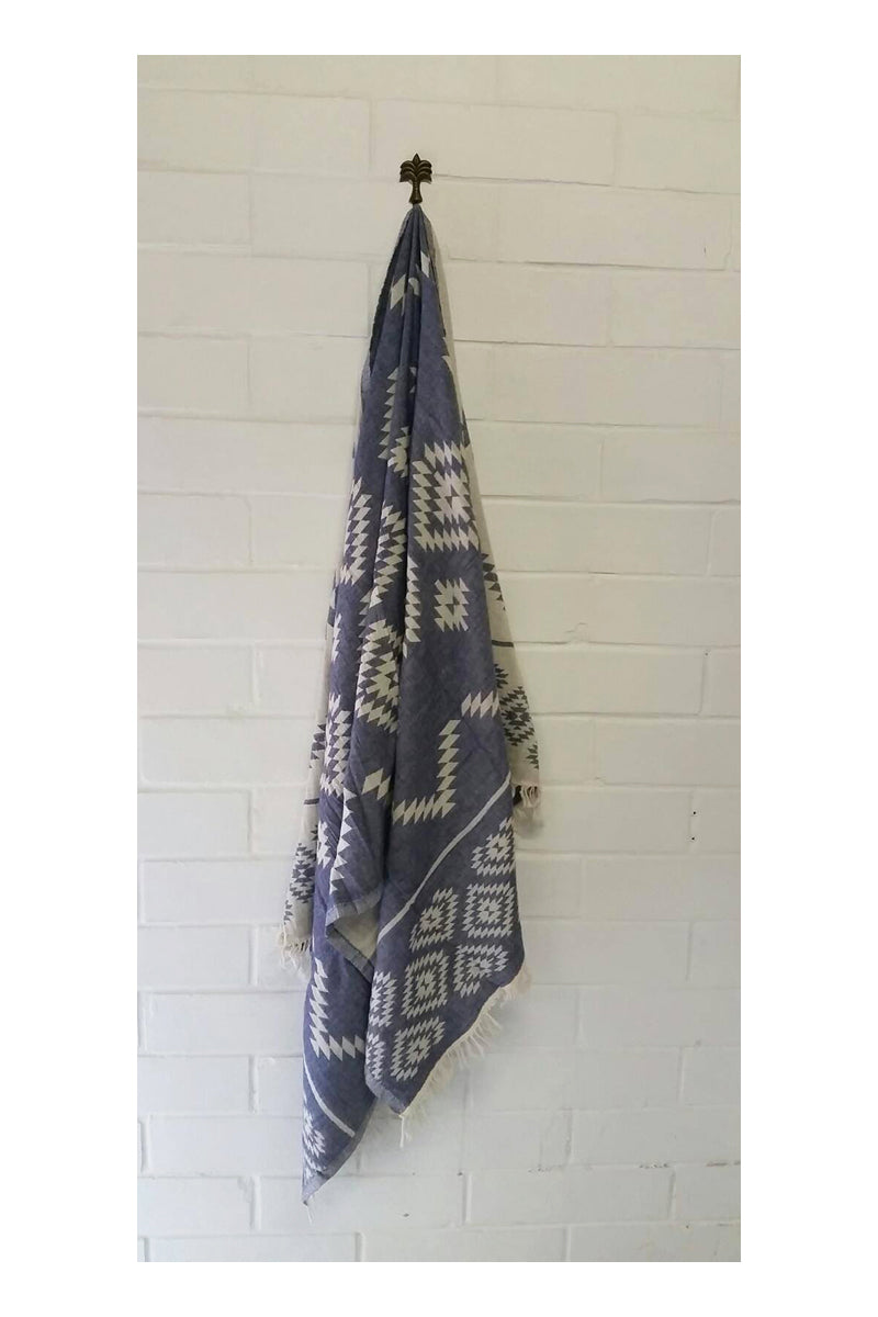 Wild One Turkish Towel - Navy - Sumavi