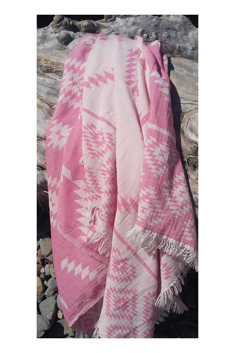 Wild One Turkish Towel - Pink - Sumavi