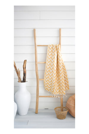 Zig Zag Turkish Towel - Gold - Sumavi