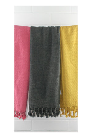 Desert Stonewash Turkish Towel - Black - Sumavi