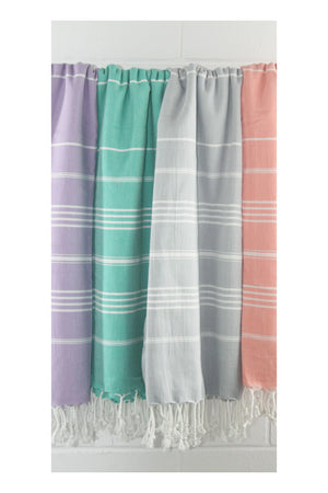 Drifter Turkish Towel - Light Grey - Sumavi
