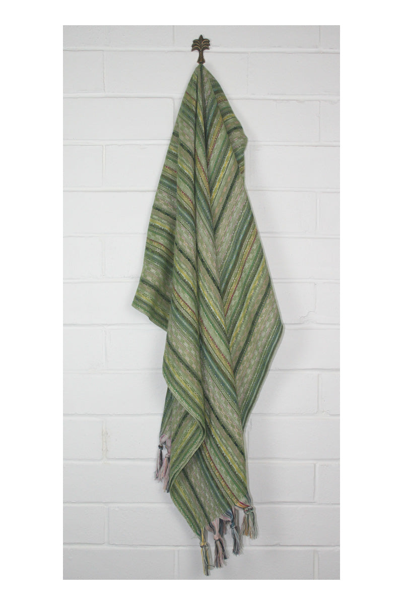 Noosa Nomad Turkish Towel - Green - Sumavi