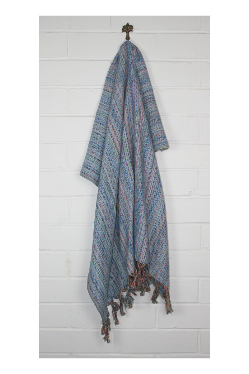 Traveller Turkish Towel/Throw - Blue - Sumavi
