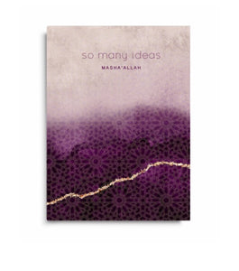 So many ideas notebook