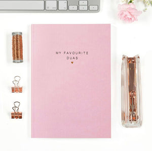 'My favourite Duas' luxe notebook
