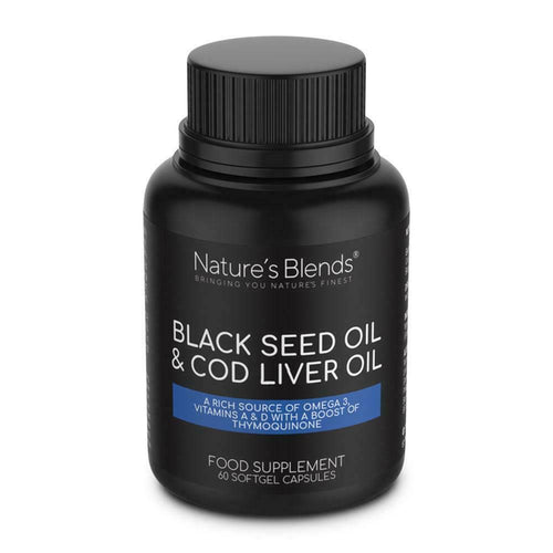 Blackseed and Cod liver oil capsules