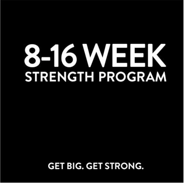 8 Week Strength Program Claremont