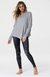 Onzie Raglan Pullover Top - Heather Gray
