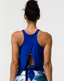 Onzie Tie Back Tank - Royal Blue
