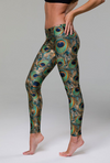 Onzie Long Legging - Green Peacock