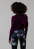 Onzie Tulip Back Long Sleeve Top - Aubergine