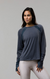 Onzie Pullover Long Sleeve Crewe - Slate Gray