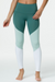 Onzie High Rise Track Legging - Pale Cacti Combo