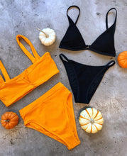 L*Space Swimwear 'Lee Lee' Bikini Top in Mango Pointelle Rib
